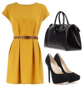 bright mustard dresses stylish teacher clothes