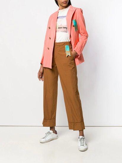 wear bright blazers: The Peach Pink