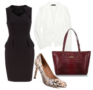 black and white dresses stylish teacher clothes