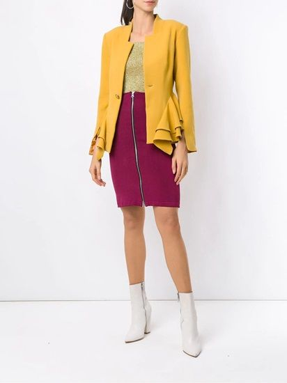 Wear Bright Colored Blazers: The stunning yellow