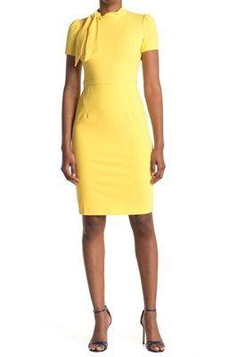 a bright sheath dress for teachers