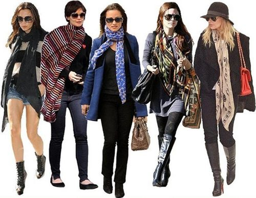 celebrity looks with scarf