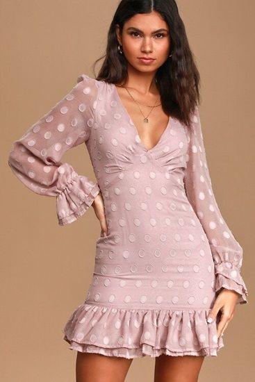 polka dot ruffled dress