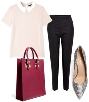 pastel pink top work outfit