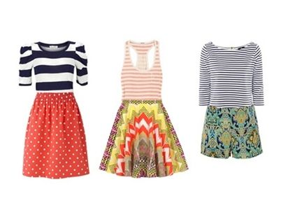 Wear Bold Colors with Other Prints