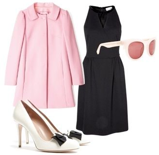 pastel pink coat outfit for fall