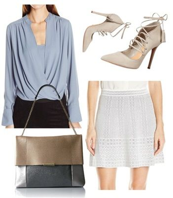 wear pastel blue outfit