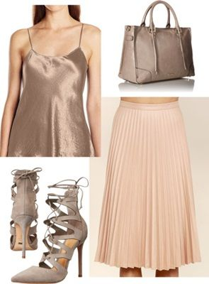 gold with pastel colors outfit