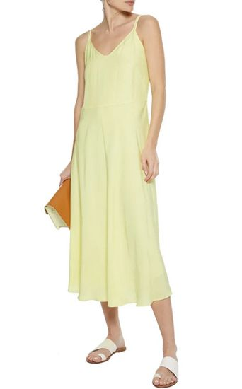 casual pastel yellow dress for summer