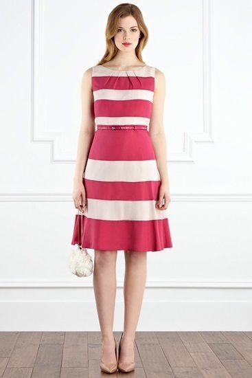 Stripes dress for narrow hips