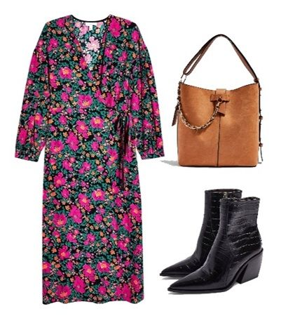 Casual summer outfit ideas: Bold Floral Wrap Dress