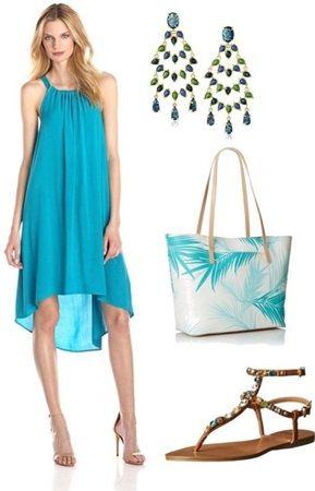 Easy Sleeveless High-Low Dress
