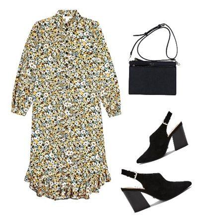 Casual summer outfit ideas: Floral Frill Hem Shirt Dress