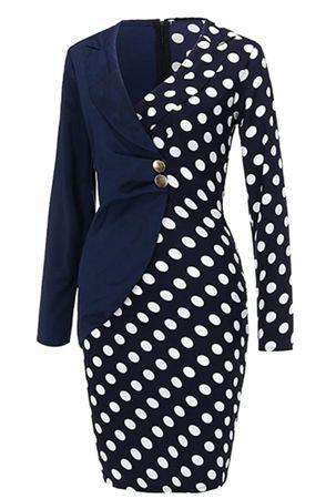 Lady-Work-Bodycon-Blazer-Dress