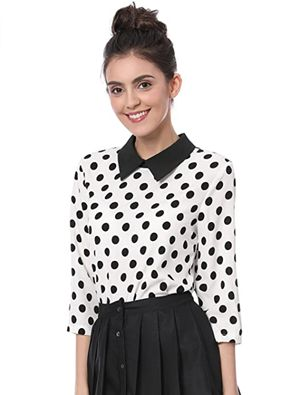 how to wear polka dot top for work
