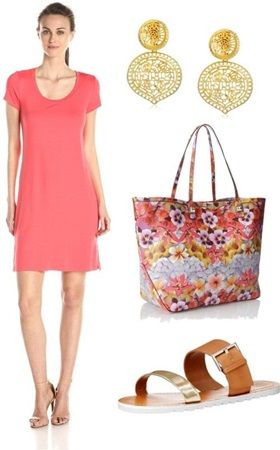 Simple Solid-Colored Scoop Neck Dress