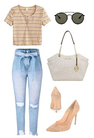 How to wear high waisted paperbag jeans