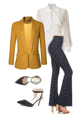 how to wear polka dot trousers