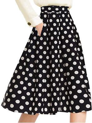 how to wear polka dot midi skirt to work