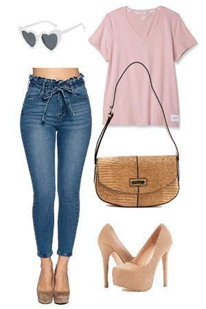 Paper bag skinny jeans