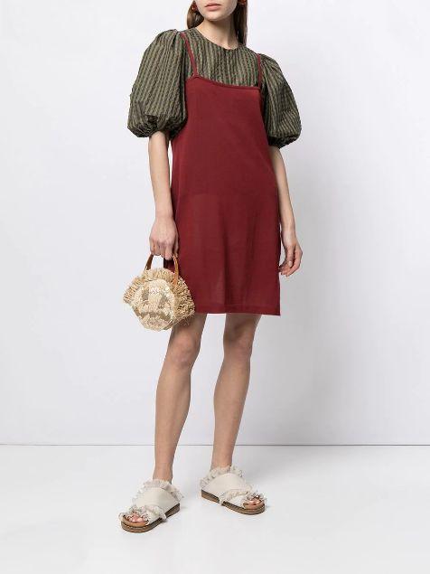 slip-dress-over-a-fluffy-sleeved-top