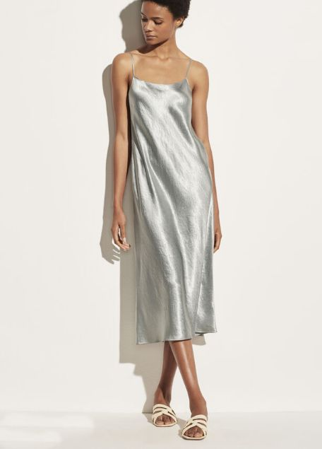 wear sating slip dress loose and relaxed