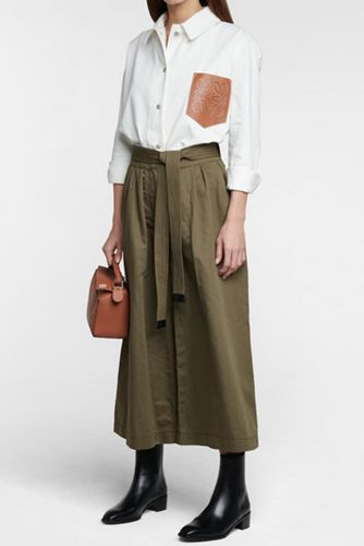 Belted-cotton-and-linen-culottes