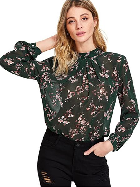 Floerns Top with Floral Print
