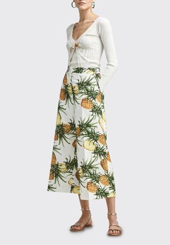 Pineapple-Print-Culotte-Pants