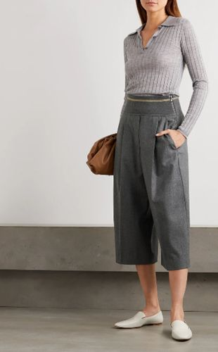 Pleated-wool-flannel-culottes