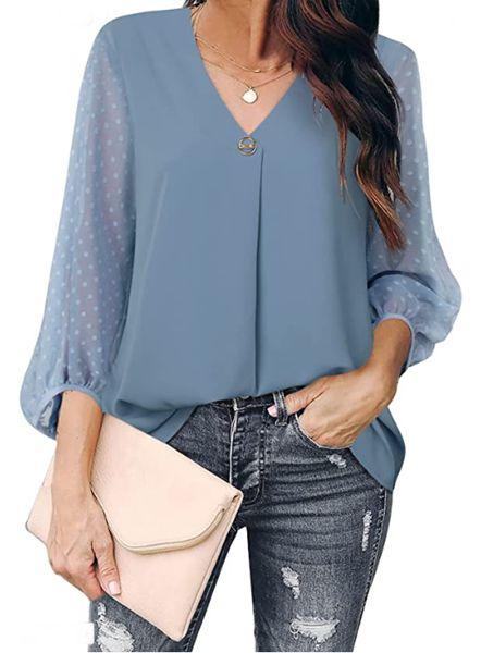 Balloon sleeves blouse