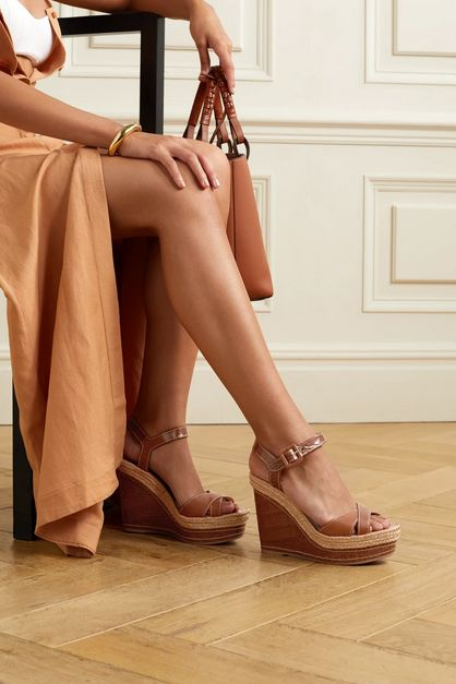 smooth-and-croc-effect-leather-wedge-sandals