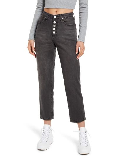 Button-Fly-Mom-Jeans-with-high-top-sneakers