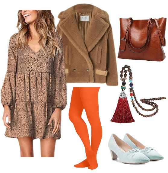 Colored Tights Boho-Inspired Outfit