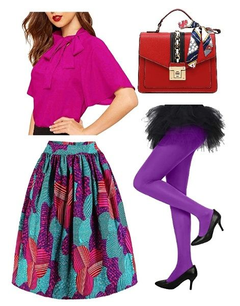 How to Wear Colored Tights: Opt for Purple
