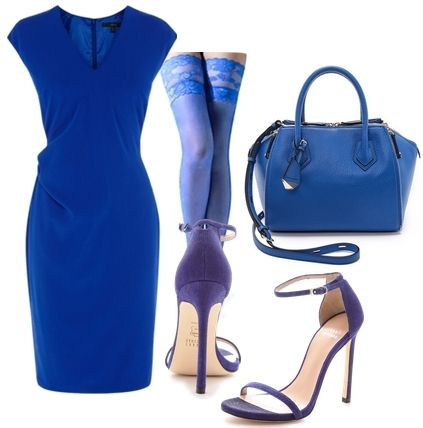head to toe blue outfit