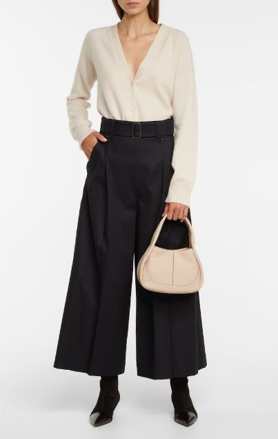 relaxed yet sophisticated fall winter looks high waist culottes